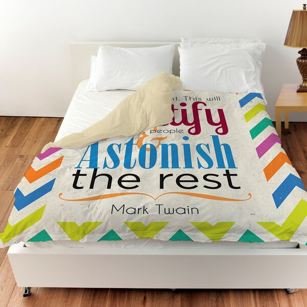 Always Do Right This Will Gratify Duvet Cover by Manual Woodworkers & Weavers