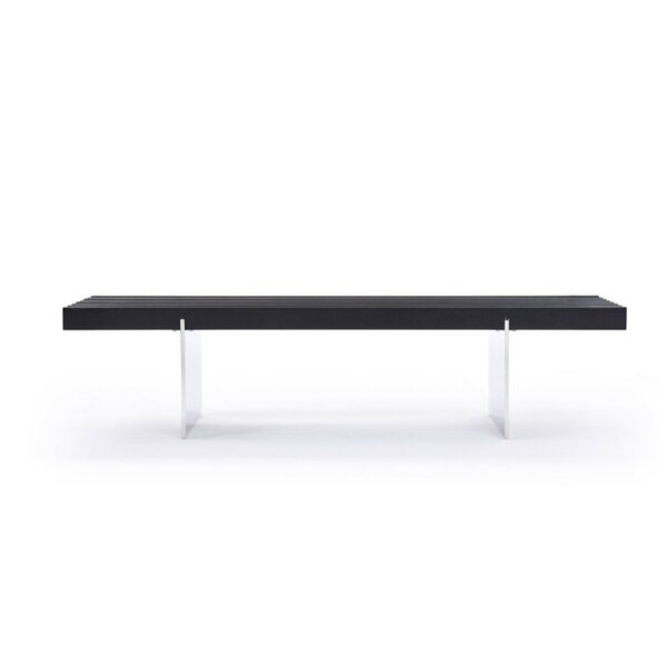Desroches Contemporary Wood Bench by Orren Ellis