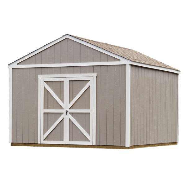 Premier Series 12 ft. 6 in. W x 12 ft. 3 in. D Wooden Storage Shed by Handy Home