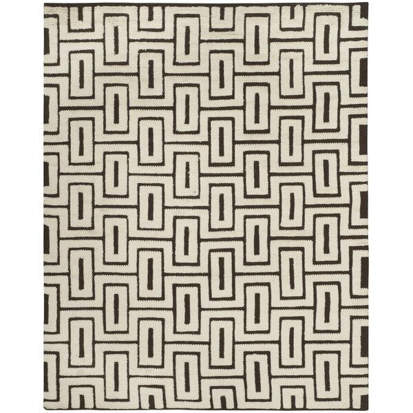 Syed Knotted Cotton Ivory Area Rug by Bloomsbury Market