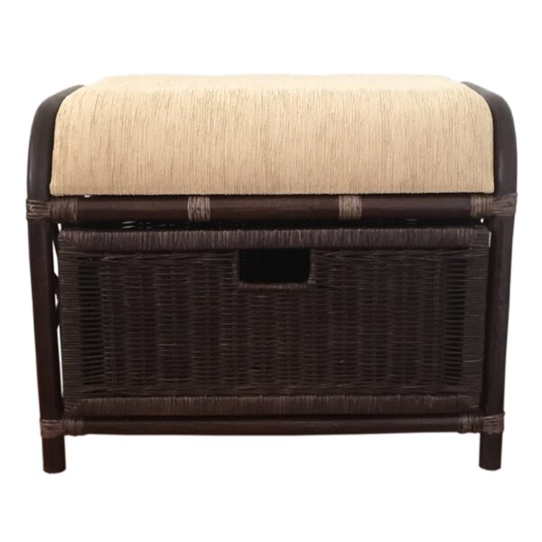 Jerry Storage Ottoman by Rattan Wicker Home Furniture