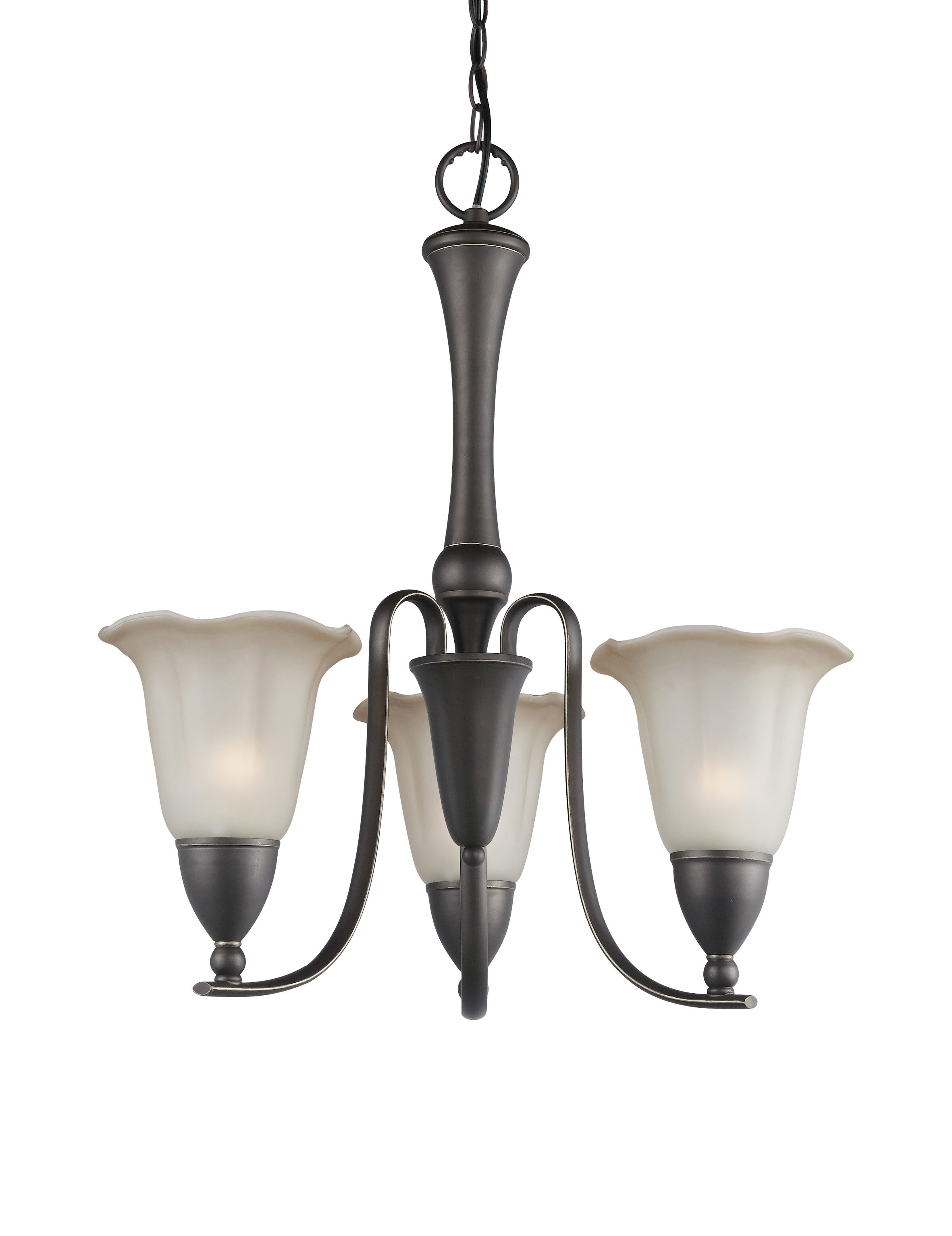 KINGSTON 3 LIGHT SHADED CLASSIC TRADITIONAL CHANDELIER