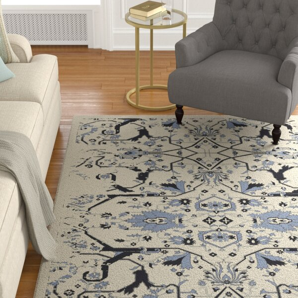 Bastow Hand-Knotted Denim Area Rug by Astoria Grand