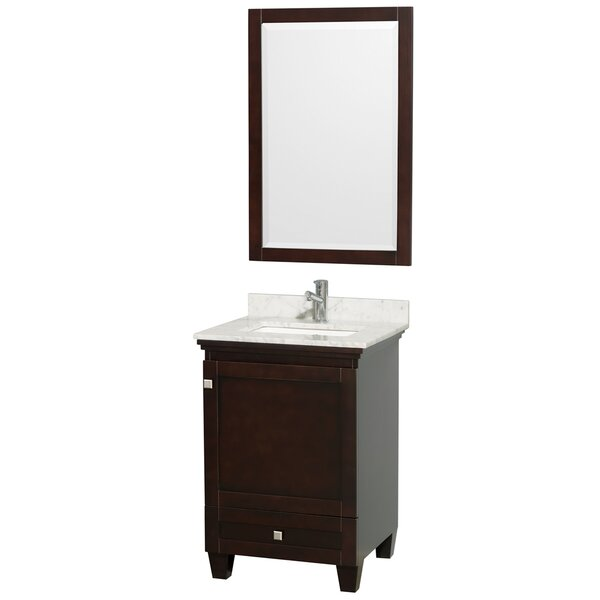Acclaim 24 Single Espresso Bathroom Vanity Set with Mirror by Wyndham Collection
