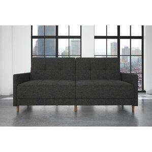 Reviews Zipcode Design Ziva Linen Convertible Sofa