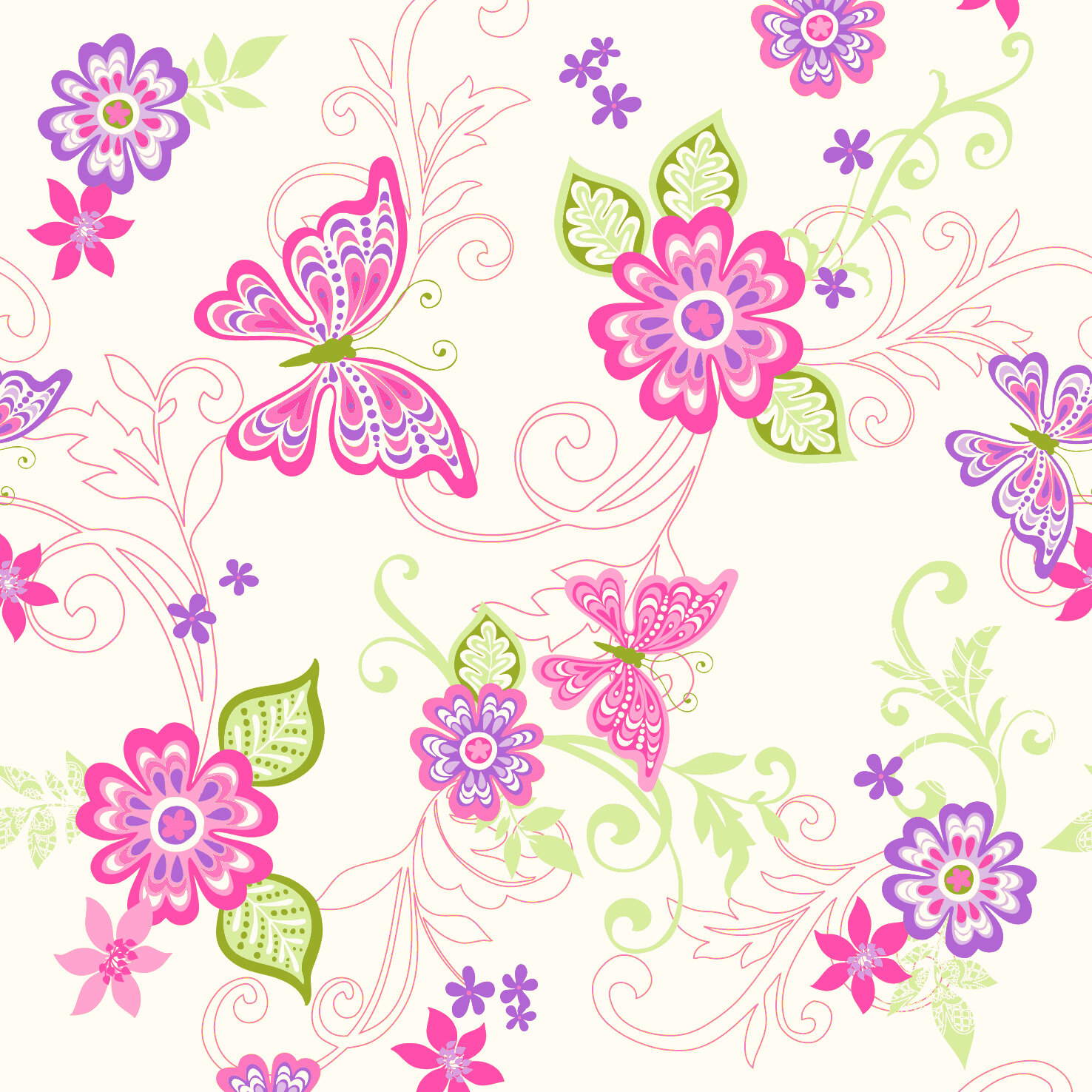 Zoomie Kids Melnick 16 5 X 20 5 Floral Border Wallpaper Wayfair