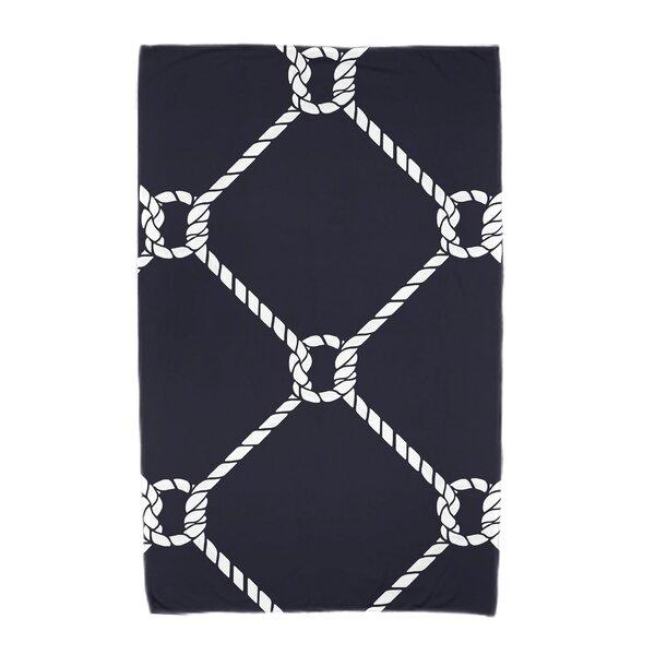Bridgeport Ahoy! Geometric Print Beach Towel by Beachcrest Home