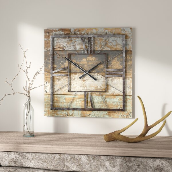 Square Wall Clock by Loon Peak