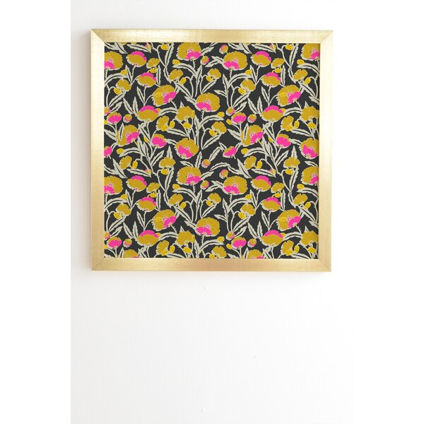 Zebrini Floral Mambo Framed Graphic Art by East Urban Home