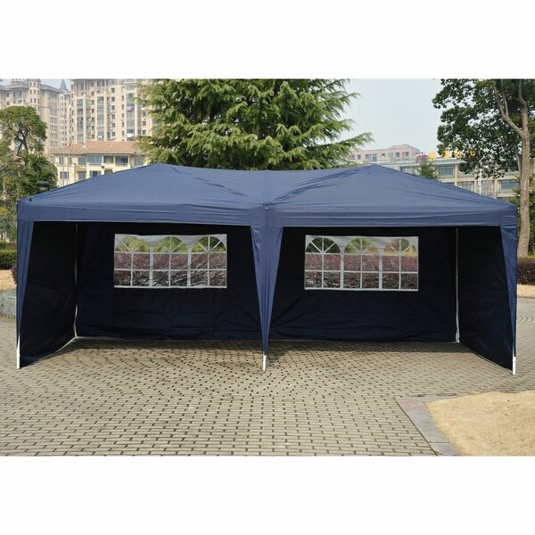 10 Ft. W x 20 Ft. D Steel Pop Up Party Tent by Outsunny