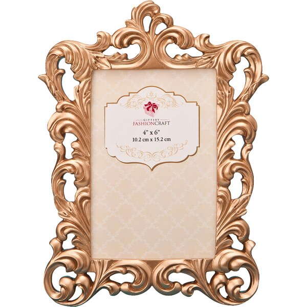 Rose Gold Baroque Picture Frame by Fashion Craft
