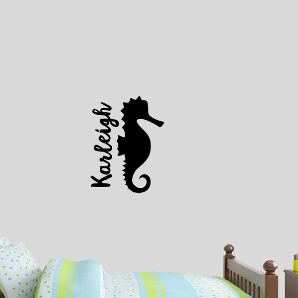 Custom Name Seahorse Wall Decal by Zoomie Kids