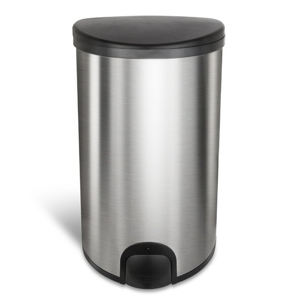 13.2 Gallon Touch Top Trash Can by Nine Stars