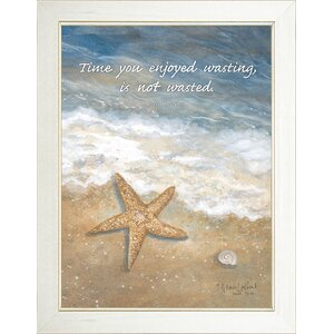 'Time Wasted' Printed Framed Wall Art by Beachcrest Home