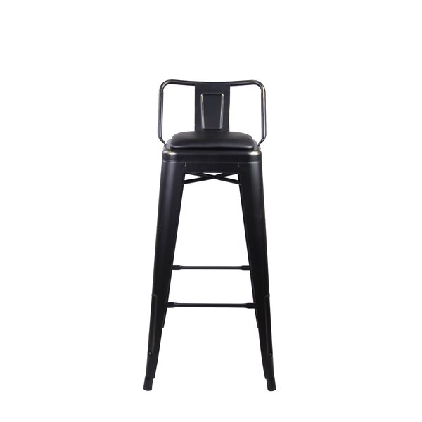 Alric Low Back Metal 30 Bar Stool (Set of 4) by 17 Stories