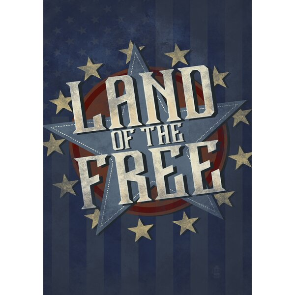 Land of the Free 2-Sided Garden flag by Toland Home Garden