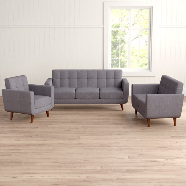 Nilson 3 Piece Living Room Set by Langley Street