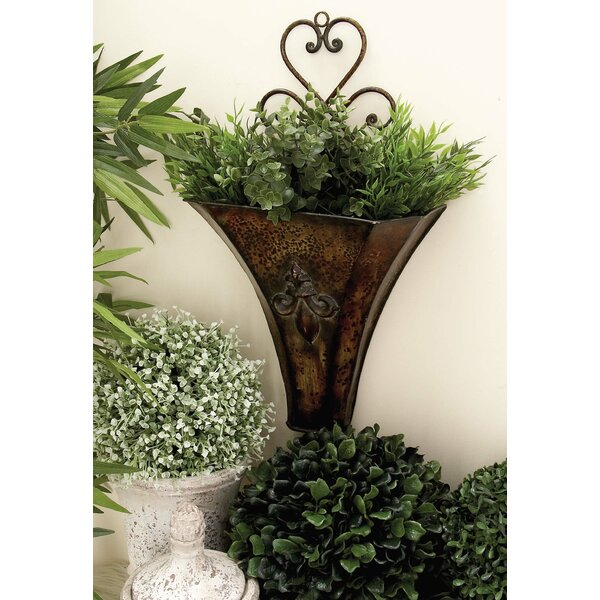 2-Piece Metal Wall Planter Set by Cole & Grey