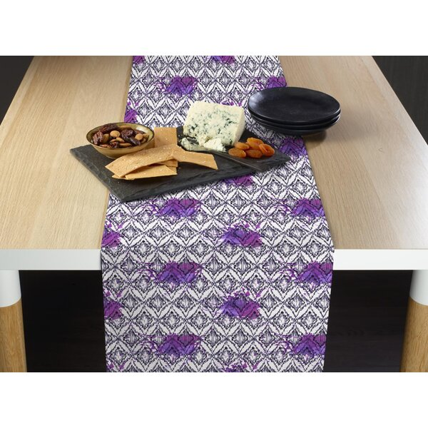 Lorentzen Spotted Ikat Milliken Signature Table Runner by Ivy Bronx