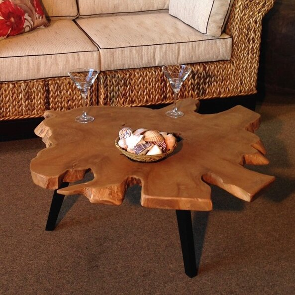 Teak Abstract Coffee Table by Chic Teak