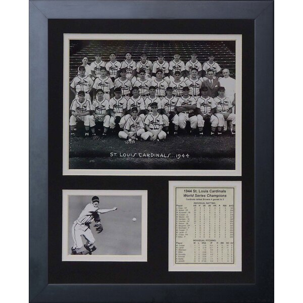 1944 St. Louis Cardinals Framed Memorabilia by Legends Never Die