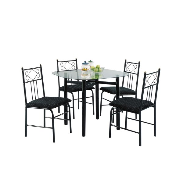 Yost 5 Piece Dining Set by Fleur De Lis Living