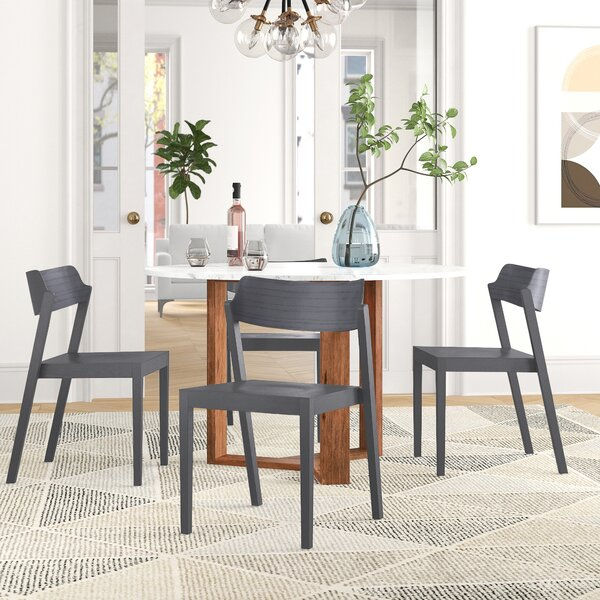 Natalina Solid Wood Stacking Side Chair By Foundstone