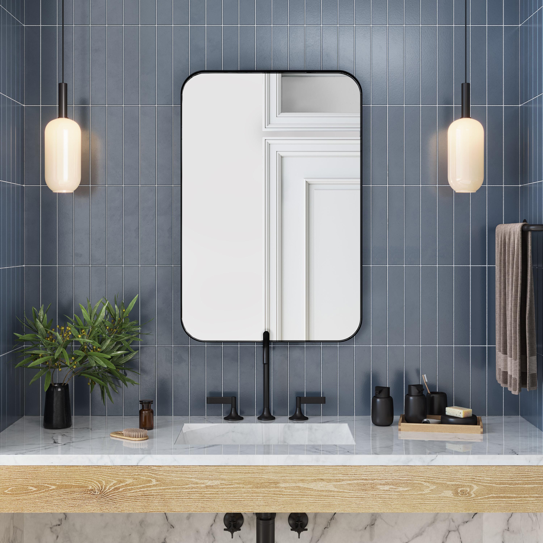 Orren Ellis Weeksville Modern And Contemporary Bathroom Vanity Mirror Reviews Wayfair