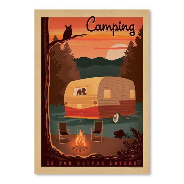 Lake Camper Vintage Advertisement by Loon Peak