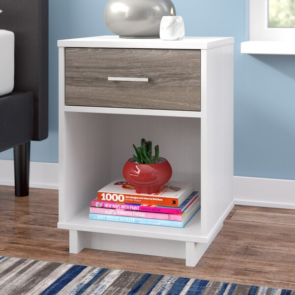 Chicopee Modern 1 Drawer Nightstand by Zipcode Des
