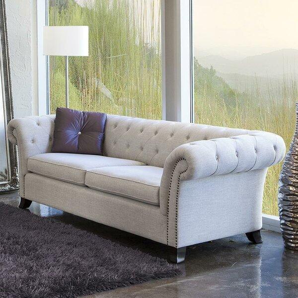 Duchesse Woven Fabric Chesterfield Sofa by Fornirama
