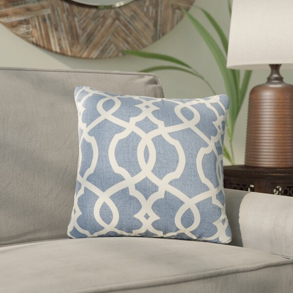 Brennan Damask Throw Pillow by Mistana