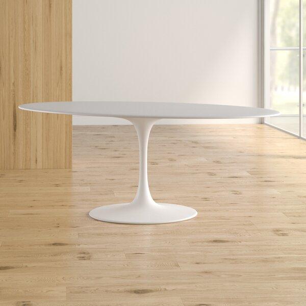 Bromyard Matte Lacquer Dining Table by Orren Ellis Orren Ellis