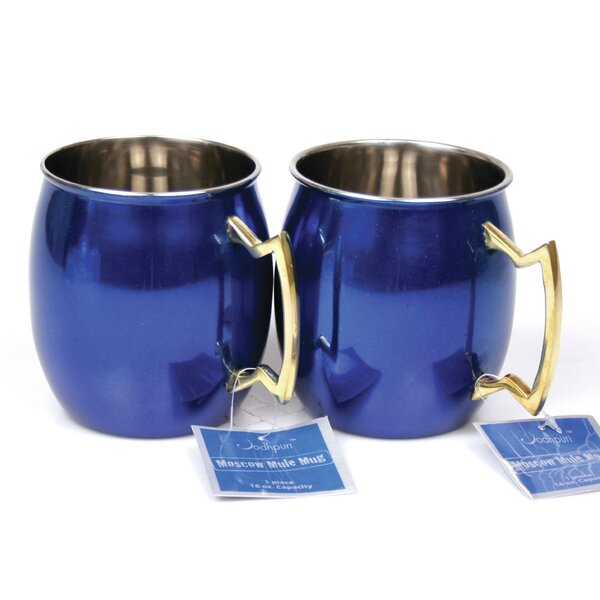 Kingsview 16 Oz. Moscow Mule Mug (Set of 2) by Brayden Studio