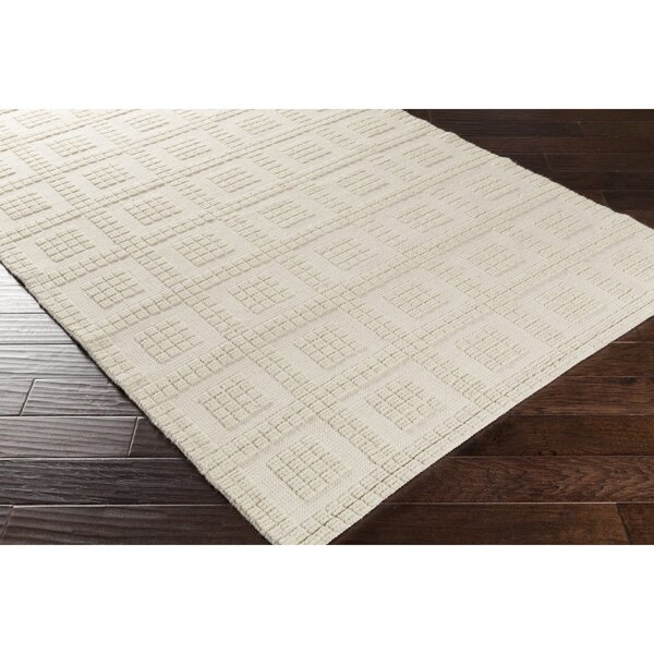 Veach Hand-Woven Neutral Area Rug by Wrought Studio