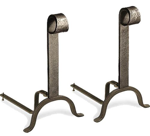Colonial Iron Andirons By Pilgrim Hearth