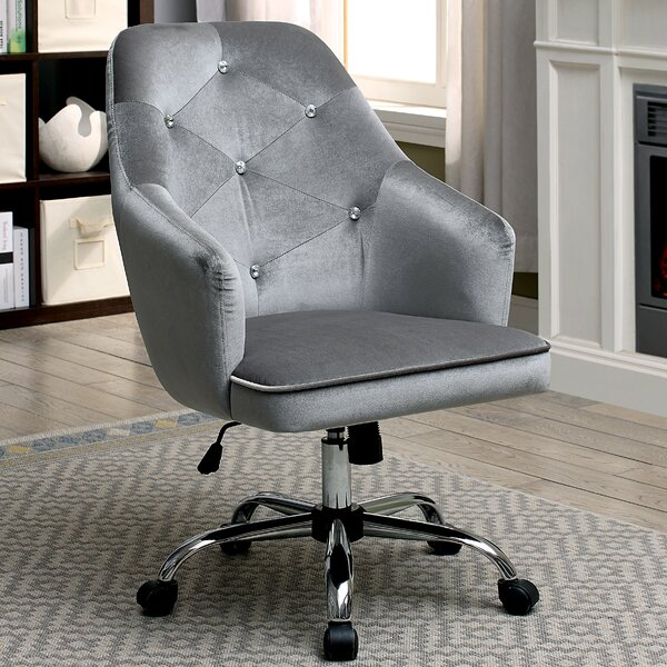 Ethel  Contemporary Office Mid-Back Executive Chair by Everly Quinn