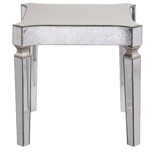 Bargain Paulsen Mirrored End Table with Tray By House of Hampton