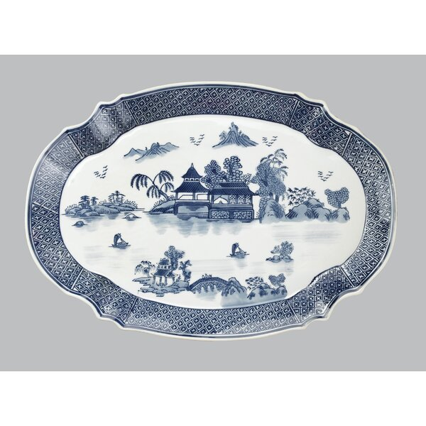 Overturf Pagoda Oval Platter by Bloomsbury Market