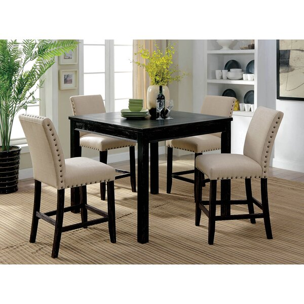 Hankerson Wooden 5 Piece Counter Height Dining Table Set by Red Barrel Studio