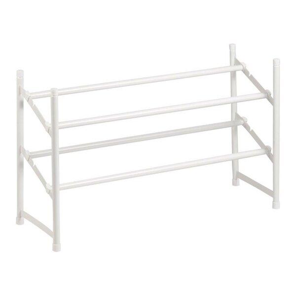 2-Tier Steel Expandable 6 Pair Stackable Shoe Rack
