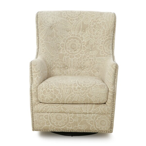 Darfur Swivel Wingback Chair by Darby Home Co