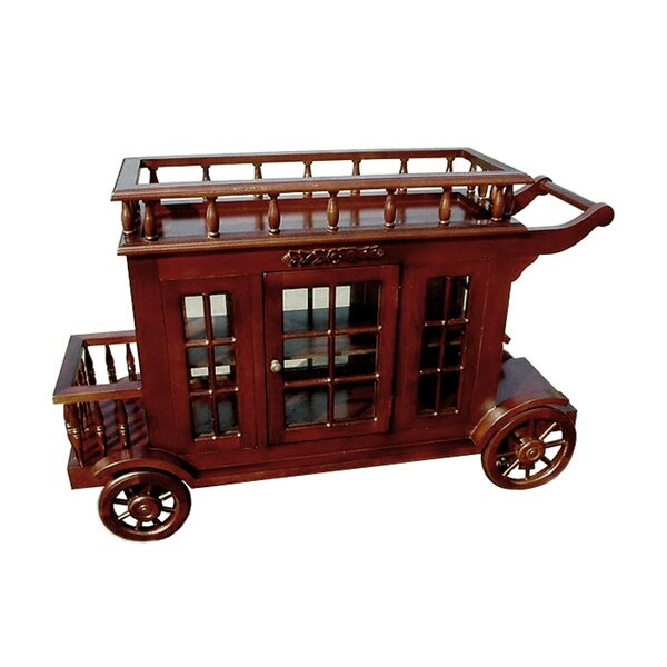 Alim Wine Trolley Carriage Bar Cart by Astoria Grand Astoria Grand