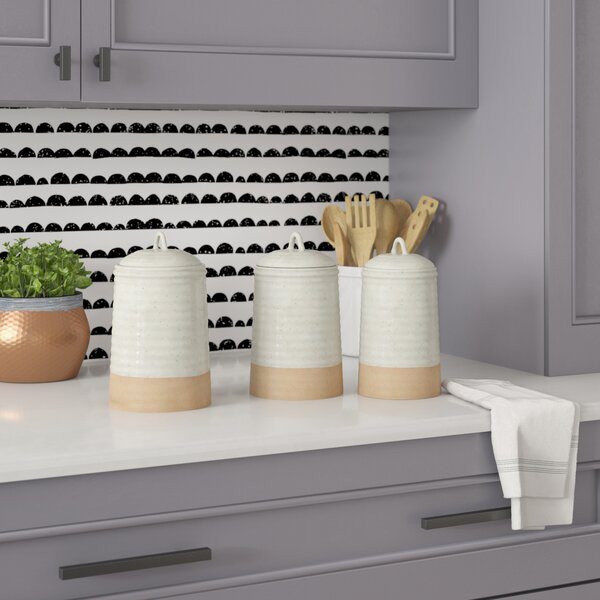 3 Piece Kitchen Canister Set by Mint Pantry