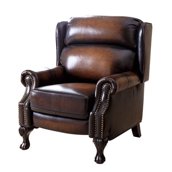 Shubrick Leather Manual Recliner by Astoria Grand