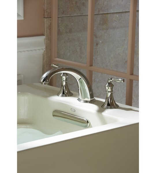 Devonshire Deck-/Rim-Mount Bath Faucet Trim for High-Flow Valve with 9 Non-Diverter Spout and Lever Handles, Valve Not Included by Kohler