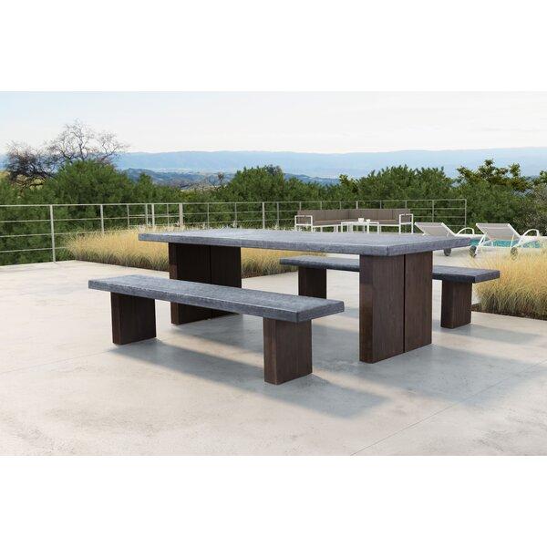 Barbury Wooden Garden Bench by 17 Stories