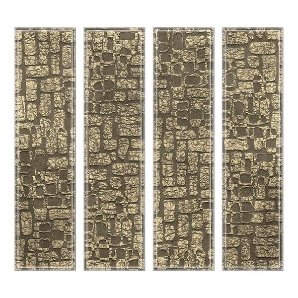 Crystal 3 x 12 Beveled Glass Subway Tile in Mud Brown by Upscale Designs by EMA