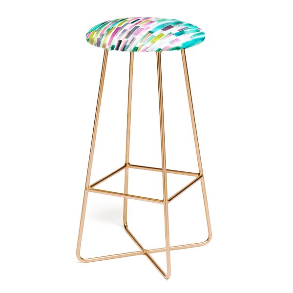 Ninola Design Green Nature Stripes 30 Bar Stool by East Urban Home