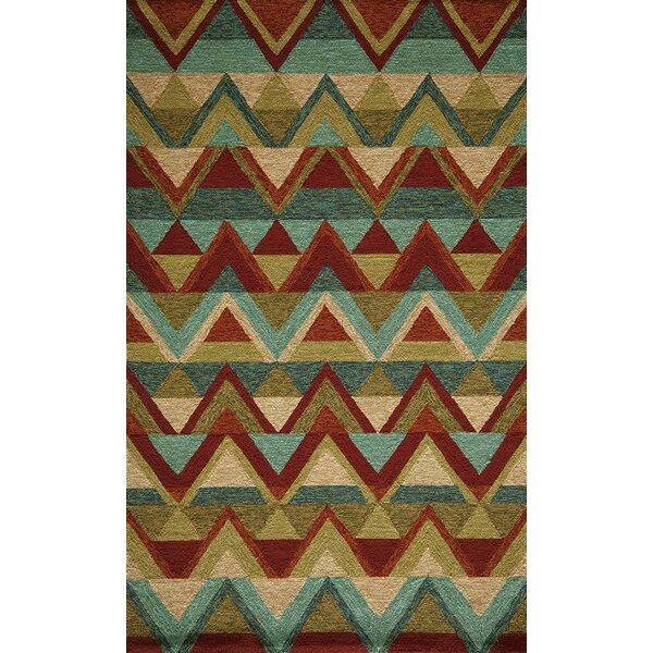 Madison Hand-Hooked Red Indoor/Outdoor Area Rug by Loon Peak